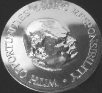Winston Churchill Silver Medallion
